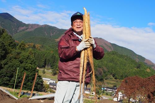 道の駅みなみ波賀 自然薯 朝日新聞に記載されました
