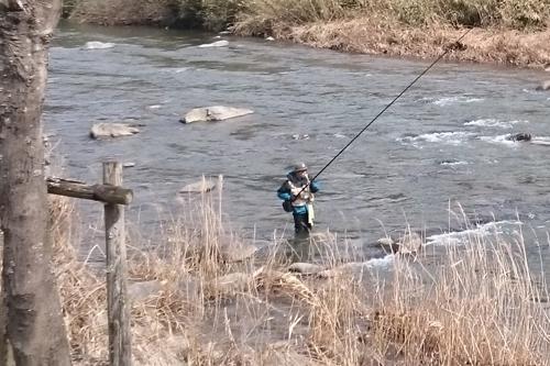 春の訪れ 渓流釣り解禁 道の駅みなみ波賀